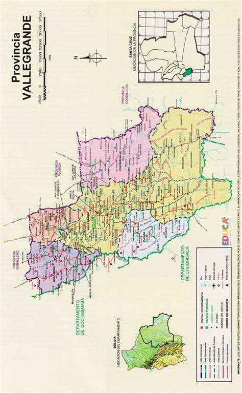 Provincia Vallegrande  Mapa  | Departamento de Santa Cruz ...