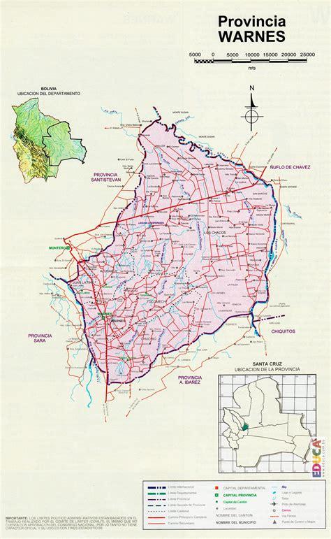 Provincia Warnes  Mapa  | Departamento de Santa Cruz ...