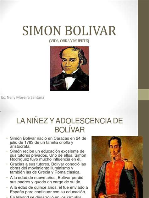 Proyecto Sobre Bibliografia de Simon Bolivar | América del ...