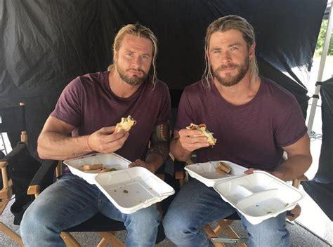 PsBattle: Chris Hemsworth and his stunt double eating ...