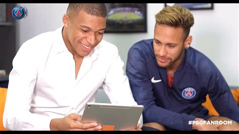 #PSGFANROOM avec Orange   Neymar & K. Mbappé   YouTube