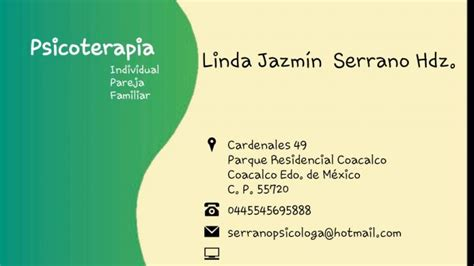 Psicologa Linda Serrano terapia gestalt en Coacalco de ...