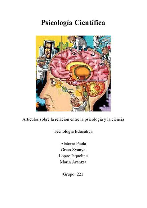 Psicologia Cientifica by Zyanya   Issuu