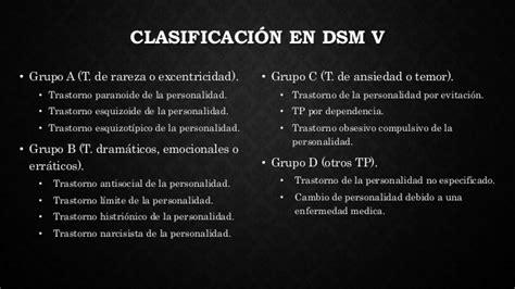 Psicologia Clinica.: Tabla de la clasificacion los transtornos