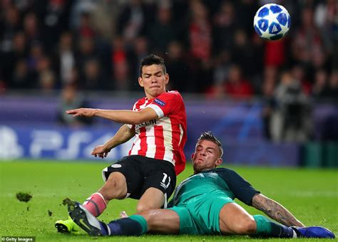 PSV 2 2 Tottenham: Hugo Lloris red card sparks ANOTHER ...