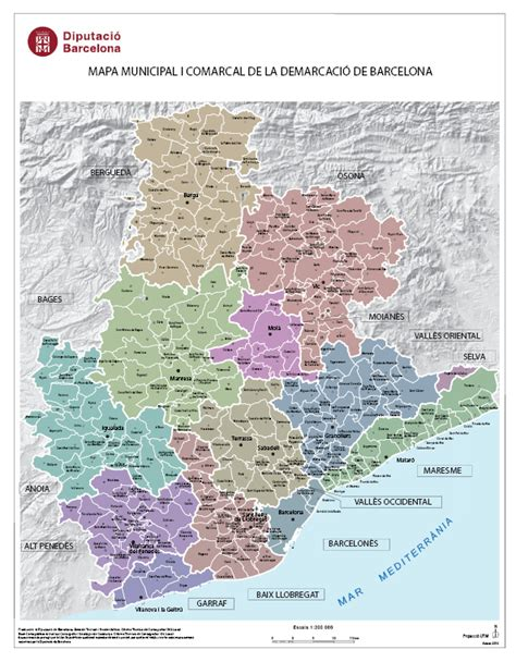Pueblos De Barcelona Mapa   Mapa