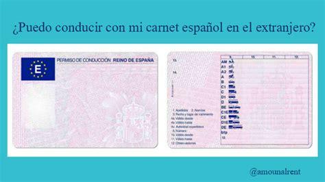 ¿Puedo conducir con mi carnet español en el extranjero ...