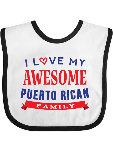 Puerto Rico Love My Puerto Rican Family Baby Bib   Walmart ...