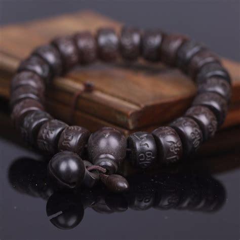 Pulsera Mala Budista/tibetana Madera Gravada Mantras ...