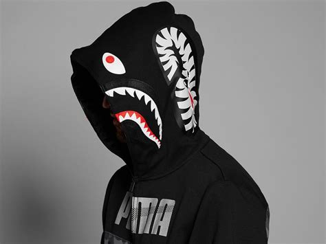 PUMA x Bape Shark Hoodie black camo XL  #266581  from ...