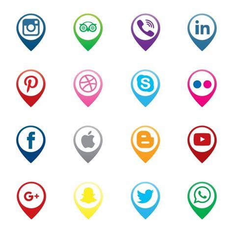 Punteros de iconos de redes sociales   Descargar Vectores ...