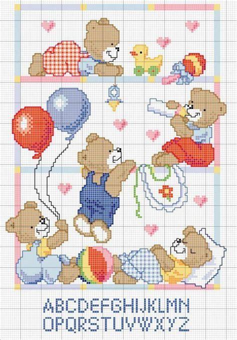 Punto de cruz osos patrones gratis   Imagui   Ositos punto ...