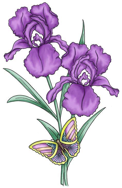 Purple Iris Flower Clip Art – Cliparts