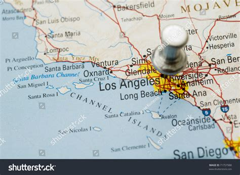Push Pin On Map Of California. Map Is Copyright Free Off A ...