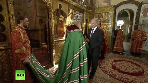 Putin blessed by Patriarch Kirill after being sworn in ...