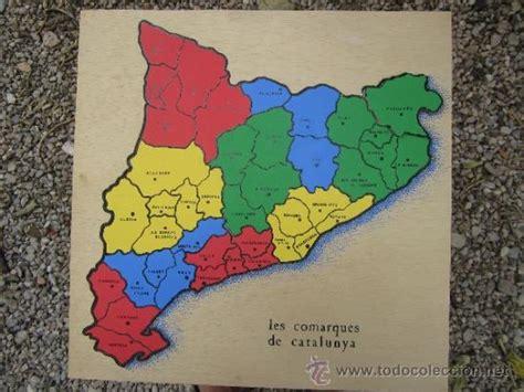 Puzle de mapa de les comarques de catalunya , m   Vendido ...