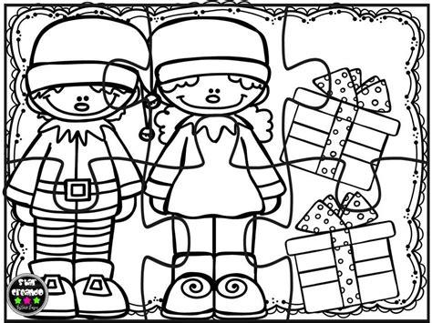 Puzzles navidad para colorear  4  – Imagenes Educativas