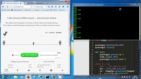 pyDyno: T Rex Chrome Dinosaur Game Bot in Python   YouTube