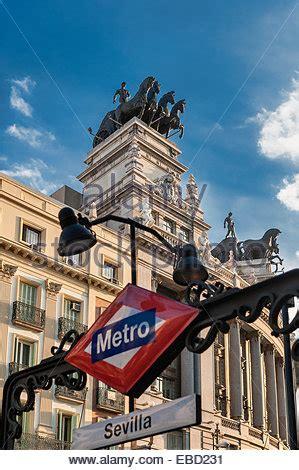 Quadriga of BBVA building. Madrid. Spain Stock Photo ...