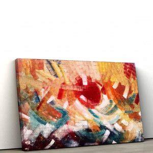 Quadro Decorativo em Tela Canvas Abstrato Colorful Wall ...