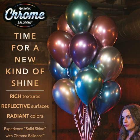 Qualatex CHROME Helium Latex 11  BALLOONS   6 Colours ...