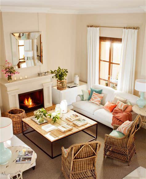 ¡Qué elegancia!   Decoracion   Living room with fireplace ...