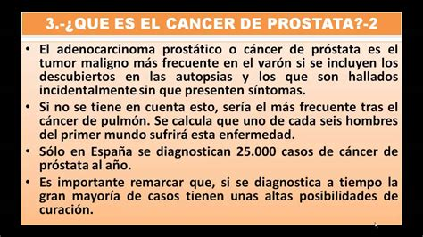 QUE ES EL CANCER DE PROSTATA CAUSAS, SINTOMAS Y ...