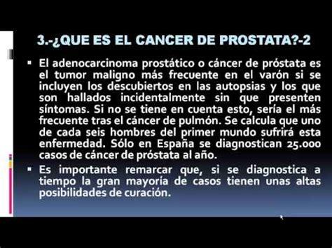 QUE ES EL CANCER DE PROSTATA SINTOMAS, PREVENCION Y ...