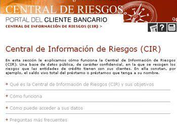 Qué es el CIRBE: Central de Información de Riesgos del BdE