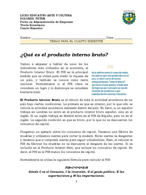 Qué Es El Producto Interno Bruto | Inflation | Gross ...