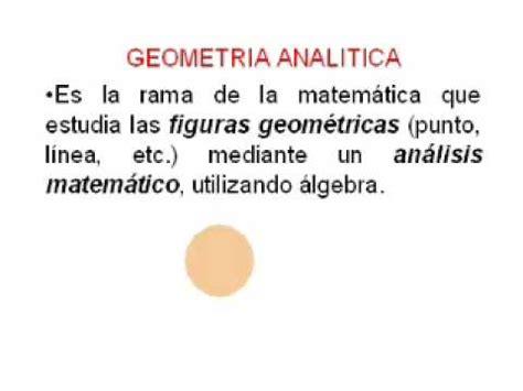 ¿Que es Geometría Analítica?_2   YouTube