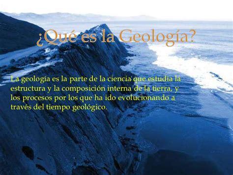 Qué es la geología