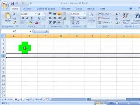 ¿Qué es la hoja de Cálculo de Microsoft Excel 2007?   YouTube