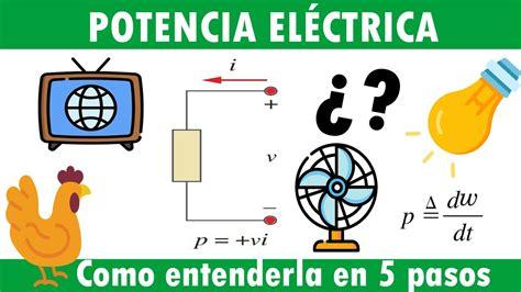 ¿qué es la POTENCIA ELÉCTRICA? || explicada en 5 PASOS ...