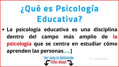 ¿Qué es Psicología Educativa?   Significado   Estudios ...