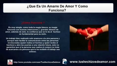 ¿Que Es Un Amarre De Amor Y Como Funciona?   YouTube