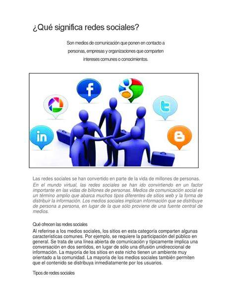 Qué significa redes sociales by jairoosorio24   Issuu