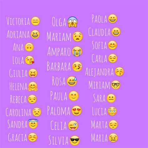 Qué significa tu nombre en Emojis | Nombres emoji ...