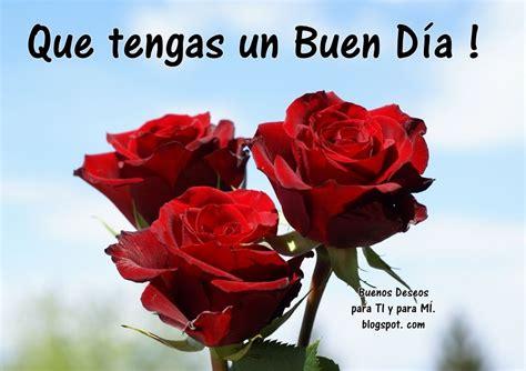 Que tengas un Buen Día !  3 Rosas rojas    Buenos dias ...
