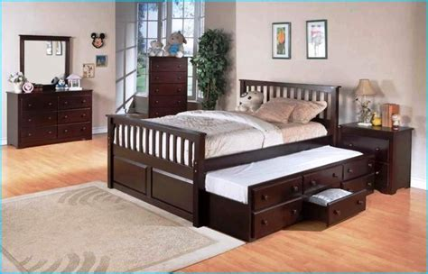 queen bed with trundle underneath | HomeBuildDesigns ...
