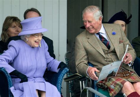 Queen Elizabeth and Prince Charles Attend the Braemar ...