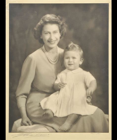 Queen Elizabeth II and her son Prince Charles pictured on ...