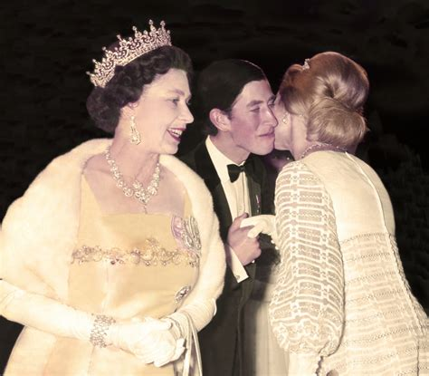 Queen Elizabeth II brought son Charles along for a film ...