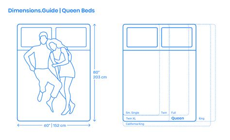 Queen Size Bed Dimensions & Drawings | Dimensions.Guide