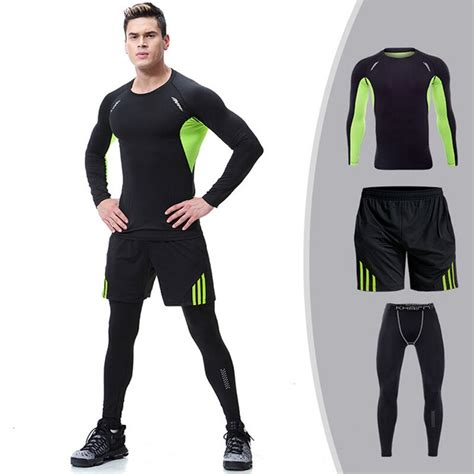 Quick Dry Sports Suits Gym Workout Clothing For Mens ...
