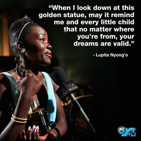 Quote by Academy Award Winning Actress, Lupita Nyong o ...
