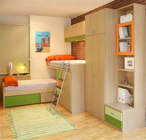 R75   Juvenil compacto de dos camas con cajones, armarios ...