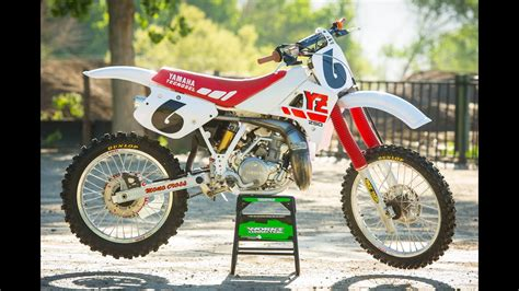 Racer X Films   Garage InStock 1988 Yamaha YZ250   YouTube