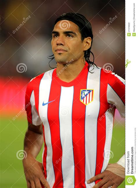 Radamel Falcao Of Atletico Madrid Editorial Photography ...