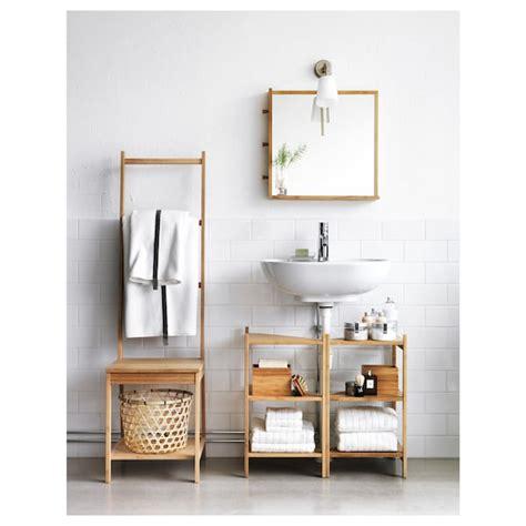 RÅGRUND Estantería esquina para baño   bambú   IKEA
